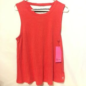 Betsey Johnson Performance Red Tank top Size M